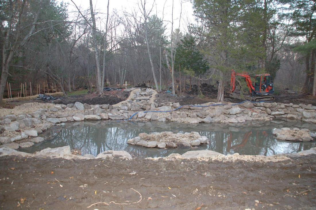 fish koi pond project photos ideas nh chester rockingham county